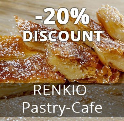 20% discount to RENKIO Pastry-Cafe